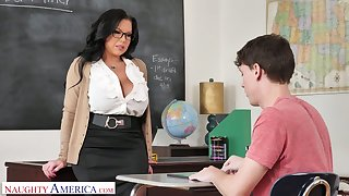 Mega prexy teacher Sheridan Love is impatient be advantageous to big dick of sophomore student