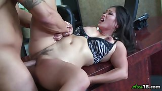 Jessica Bangkok gets her pussy licked and fucked by her scalding friend