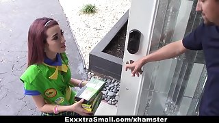 ExxxtraSmall - Tiny Girl Scout Had Intercourse By Huge Chopper